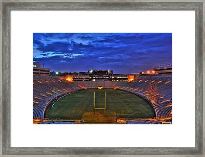 Ominous Stadium Framed Print by Alex Owen
