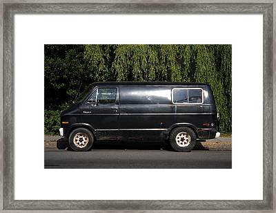 Ominuous Nanaimo Truck  Framed Print by Kreddible Trout