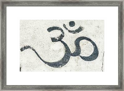 Omkar Graffiti Framed Print