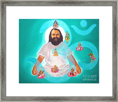 Omkar Swroop Framed Print by Kalpana Talpade Ranadive