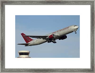 Omni Air International Boeing 767-319 N396ax Phoenix Sky Harbor January 2 2015 Framed Print by Brian Lockett