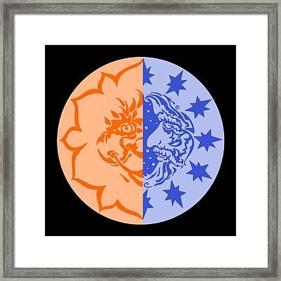 Omniscire Eclipse Logo Framed Print by Dawn Sperry