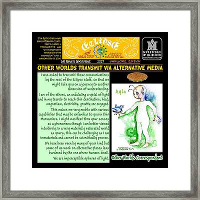Omniscire Other Worlds Correspondent Framed Print by Dawn Sperry