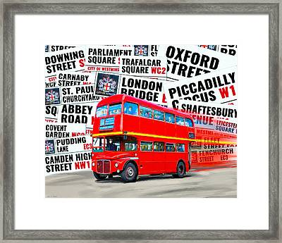 On A Bus For London Framed Print by Mark E Tisdale