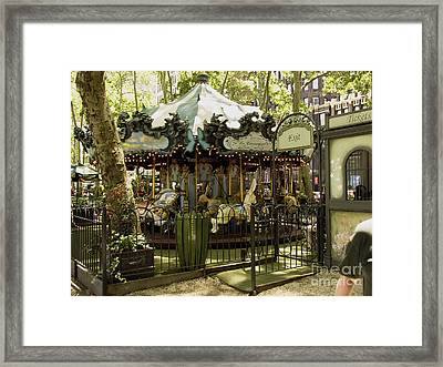 On A Carousel Framed Print by Phil Welsher
