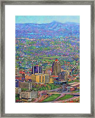 On A Clear Day - A View From Mill Mountain Framed Print