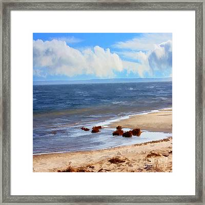 On A Clear Day Framed Print by Judy Palkimas