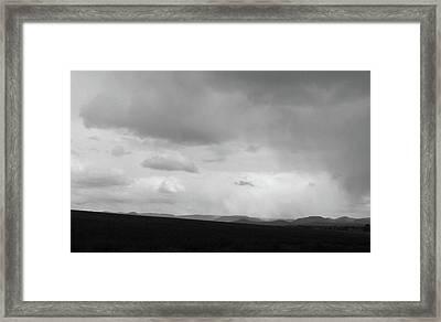On A Cloudy Rainy Day Framed Print