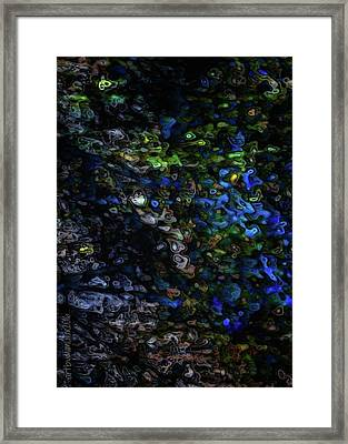 Framed Print featuring the digital art On A Cold Winter Night by Mimulux patricia no No