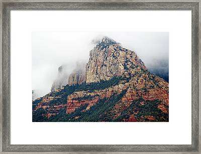 Framed Print featuring the photograph On A Misty Day by Phyllis Denton