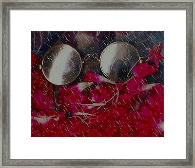 On A Rainy Day Its Fine To Be Inside Framed Print by Pepita Selles