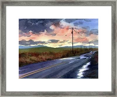On A Road Side Framed Print by Sergey Zhiboedov