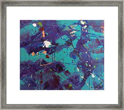 On A Spectrum Framed Print by Mahlia Amatina