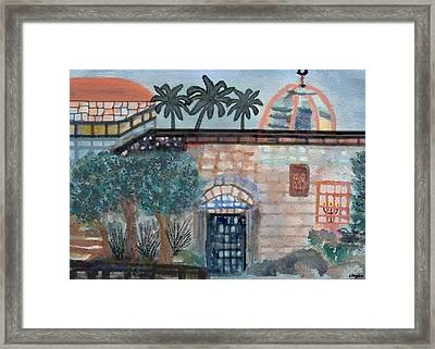 On A Street In Hebron Framed Print by Sher Magins