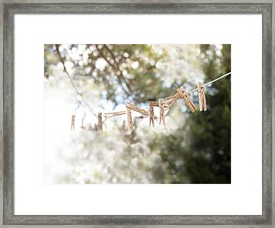 On A Sunday Framed Print