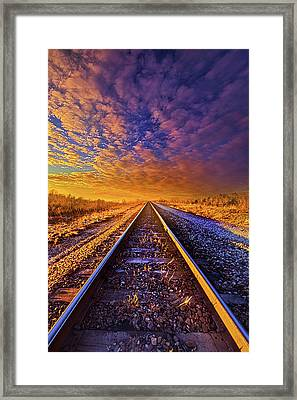 Framed Print featuring the photograph On A Train Bound For Nowhere by Phil Koch