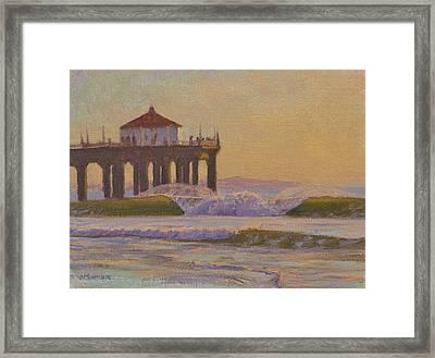 On A Warm Winter Evening Framed Print by Joe Mancuso