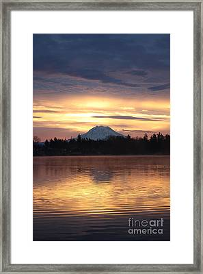On American Lake  Framed Print by C E Dyer