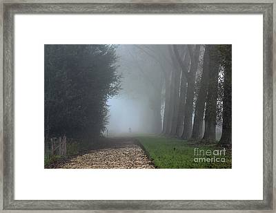 On An Autumn Day In The Mist Framed Print