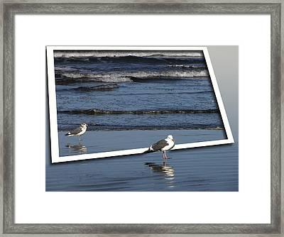 On An Oregon Beach Framed Print
