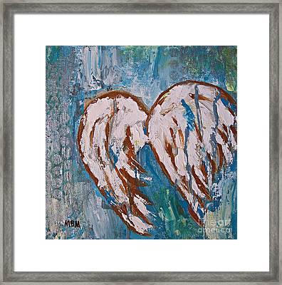On Angel Wings Framed Print