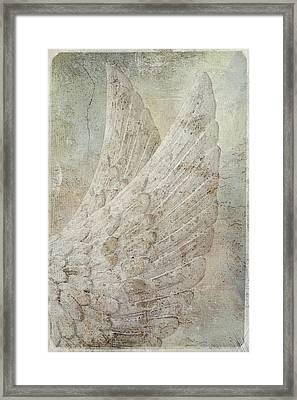 On Angels Wings Framed Print