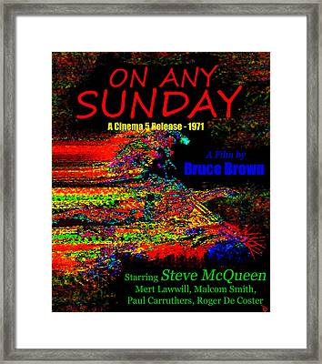 On Any Sunday Retro Poster Framed Print