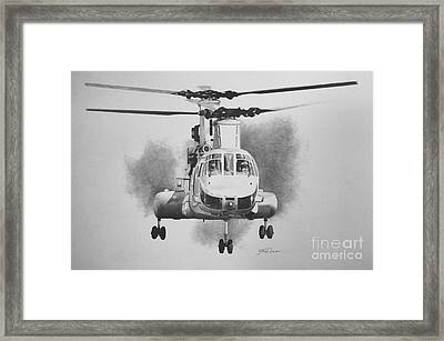 On Approach Framed Print
