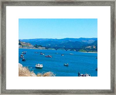 On Board For Fun  Framed Print