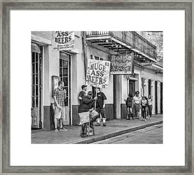 On Bourbon Street 2 - Paint Framed Print by Steve Harrington