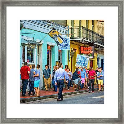 On Bourbon Street - Paint Framed Print by Steve Harrington