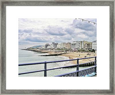 On Brighton's Palace Pier Framed Print by Connie Handscomb