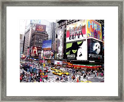 On Broadway New York Framed Print