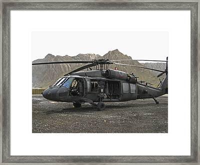 On Call Blackhawk In Afghanistan Framed Print