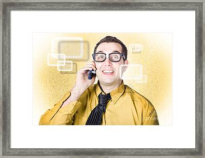 On Call It Consultant Giving Network Advice Framed Print by Jorgo Photography - Wall Art Gallery