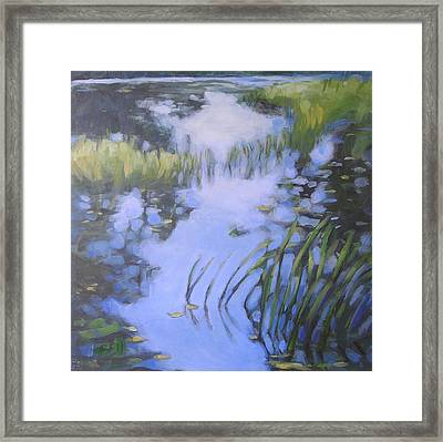 On Calm Reflection Framed Print by Mary Brooking