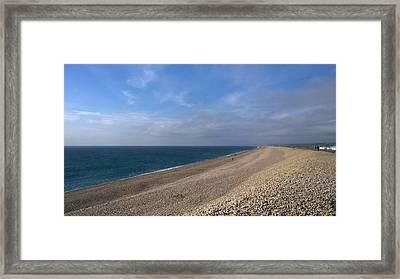 On Chesil Beach Framed Print