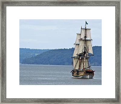On Commencement Bay Framed Print