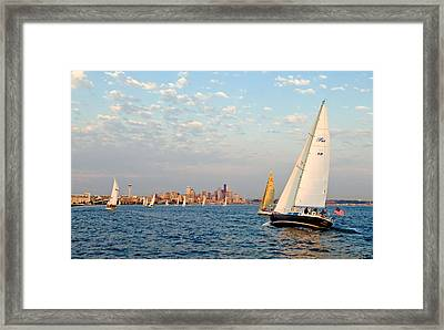 On Course Framed Print by Tom Dowd