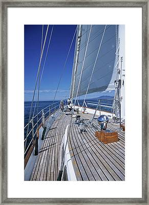 On Deck Off Mexico Framed Print