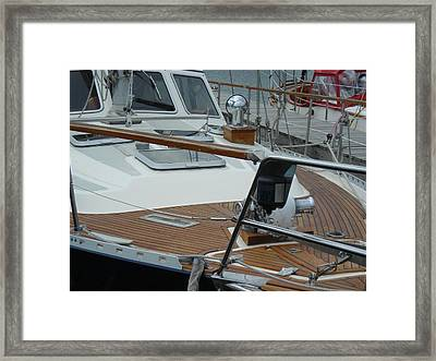 On Deck Framed Print by Peter Mowry