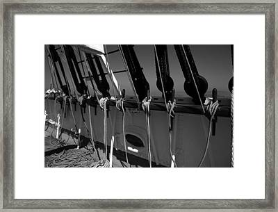 On Deck Starboard Side Framed Print
