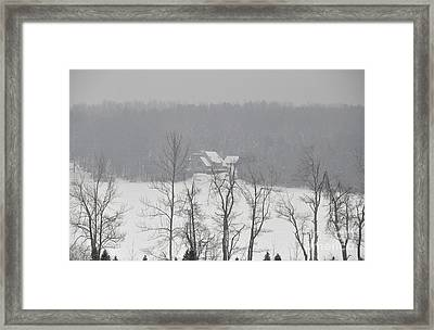 Framed Print featuring the photograph On Demond Pond by John Black