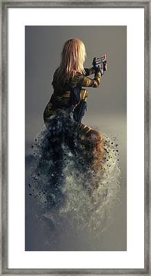 On Duty Framed Print