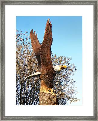 On Eagles Wings II Framed Print