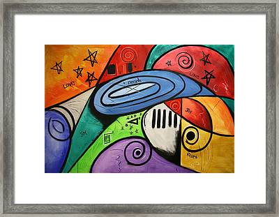 On Earth As It Is In Heaven Framed Print by Anthony Falbo