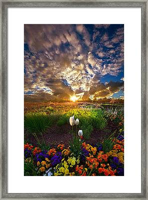 On Earth As It Is In Heaven Framed Print