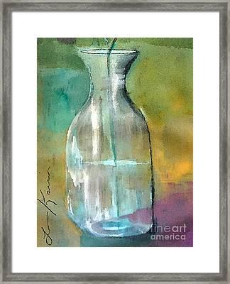 On Edge Painting Framed Print by Lisa Kaiser