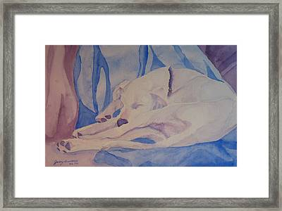 On Fallen Blankets Framed Print by Jenny Armitage