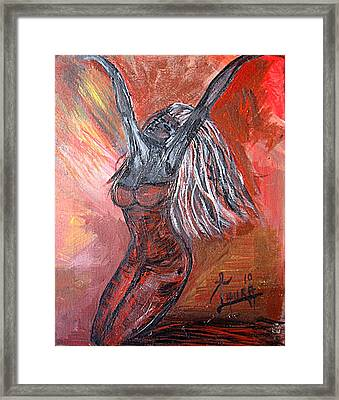 On Fire Framed Print by Laura Fatta
